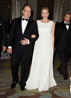 His Serene Highness Prince Albert II of Monaco (L) and Her Serene Highness Princess Charlene of Monaco attend the 2014 Princess Grace Awards Gala with presenting sponsor Christian Dior Couture at the Beverly Wilshire Four Seasons Hotel on 08.10.2014 in Beverly Hills, California.