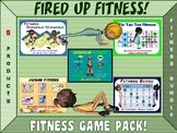 Fired up Fitness: 5 Product Fitness Game Pack. by Cap'n Pete's Power PE Pe Activities, Fitness Activities, Activity Games, Pe Games, Teacher Tools, Teacher Resources, Physical Fitness Program, Card Workout, Pe Teachers