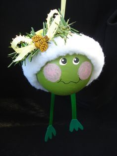 Ornament #Frog #Christmas #Ornament $16.95