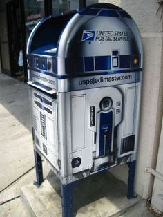R2D2 Mailbox. The ad agency I used to work for (Campbell Ewald) created these for the USPS.