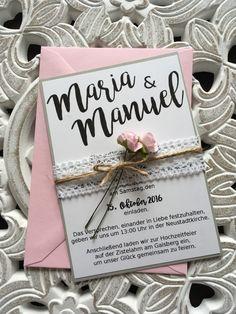 Einladung Hochzeit. Online Bestellung Möglich. Http://de.dawanda.com