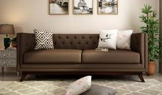 Buy Berlin 2 Seater Sofa Fabric, Classic Brown Online in India from #WoodenStreet #fabricsofas #2seaterfabricsofa #sofasets #officesofa