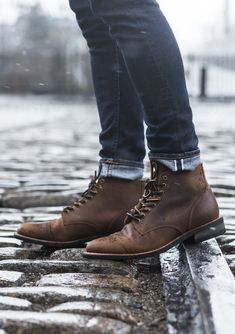 42 Rustic Mens Boots Style Ideas That You Can Buy Right Now - Mens boots have truly been the most necessary fashion ingredient to make any modern day man to be the style icon of the day. Dress With Boots, Dress Shoes, Men Dress, Mens Boots Fashion, Men Fashion, Rustic Mens Fashion, Fashion Rings, Leather Boots, Ankle Boots