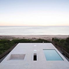 """House of the Infinite by Alberto Campo Baeza  designed as """"a jetty facing out to sea"""""""