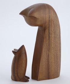 cat mouse escultura madeira objetos de desejo