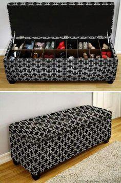 Genius! Shoe storage!