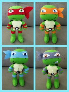Tartaruga ninja em feltro
