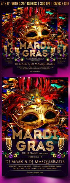 Free Mardi Gras Party Psd Flyer Template Httpfreepsdflyer