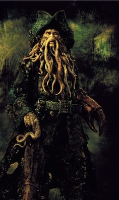Captain Davy Jones (from Pirates of the Caribbean: Dead Man's Chest, 2006). Portrayed by Bill Nighy