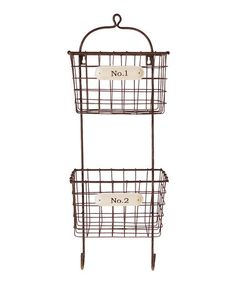 Another great find on #zulily! Metal Double Bin #zulilyfinds