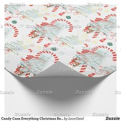 Candy Cane Everything Christmas Red Green White Wrapping Paper White Wrapping Paper, Gift Wrapping Paper, Holiday Gifts, Holiday Cards, Christmas Cards, White Elephant Gifts, Candy Cane, Red Green, Christmas Holidays