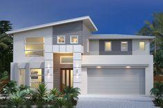 Coastal skillion roof architecture & design in 2019 дом, про Design Exterior, Exterior House Colors, Facade Design, Roof Design, Modern Exterior, Design Homes, Facade House, House Roof, Modern House Plans