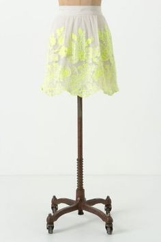 neon floral skirt #Anthropologie