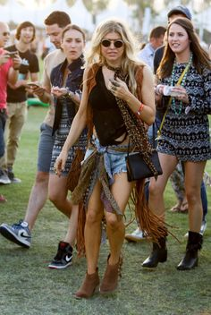 Fergie. See what all the celebs are wearing at Coachella 2015.