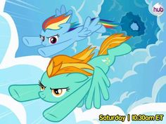 Rainbow Dash And Lightning Dust Flying In The Skies