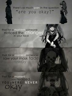 Sad anime quotes part 2 [end] Motivacional Quotes, Dark Quotes, True Quotes, Best Quotes, Sad Anime Quotes, Manga Quotes, Vocaloid, Anime Triste, A Silent Voice