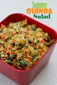 Delicious summer salad with Quinoa.  Crunchy, sweet and savory....must try!