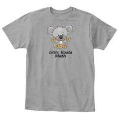 Koala  Little Math Light Heather Grey  T-Shirt Front