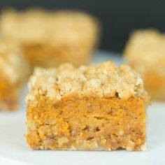 Pumpkin Pie Crumb Bar Recipe | Brown Eyed Baker - these were delicious! I might try putting 2/3 of the crumb on the bottom next time and 1/3 on top.