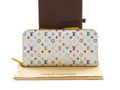 c15ee158db9 Authentic Louis Vuitton Monogram Multi Color Portefeuille Insolite Long  Wallet