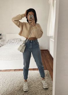 Casual Winter Outfits, Winter Fashion Outfits, Simple Outfits, Stylish Outfits, Fashion Fashion, Cute Travel Outfits, Cute Comfy Outfits, Teenage Girl Outfits, Teenager Outfits