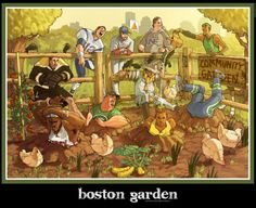 The Boston Garden Deluxe Wall Print - This is the follow up to the mega popular print The Boston Tea Party. This follow up has been 2 years in the making and is the ultimate wall print for your man-cave or sports room. This is a worthy companion to the Tea Party and certainly something everyone will want to get their hands on.