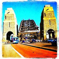 A unique view of the Sydney Harbour Bridge