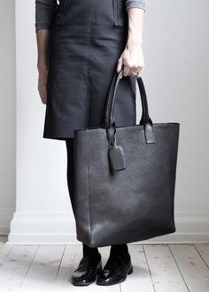 Learher Bag Shopper Tote by Danish designer Yvonne Koné, Copenhagen, Denmark
