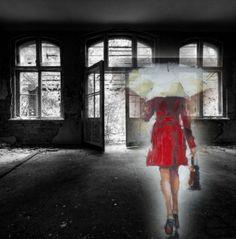 Lady in red. Laat uw eigen ontwerp maken voor een schilderij door onze art designer. http://www.mypainting.nl/