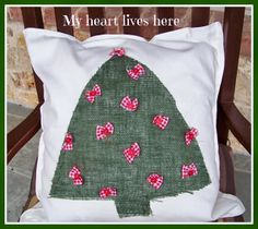 My Heart Lives Here: Christmas Pillow Covers for the Porch Rockers