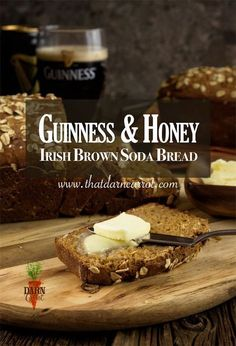 This Guinness & Honey Sweet Brown Irish Soda Bread is not true to tradition but pays tribute. Get a deep, rich flavor by incorporating the Guinness; a touch of sweetness from the honey and brown sugar. Irish Brown Bread, Irish Bread, Brown Irish Soda Bread Recipe, Recipe For Soda Bread, Sour Recipe, Irish Stew, Guinness Recipes, Pub Food, Food Food