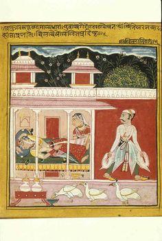 Lalita Raga. Ink and color on paper, India, 1605, Patna, Gopi Krishna Kanoria collection
