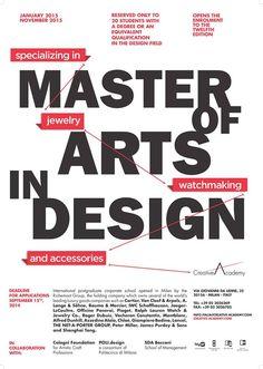 # 12th edition Master of Arts in Design   January 2015 - November 2015 #creativeacademy #master2015 #arts #design