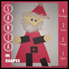 Santa in Shapes