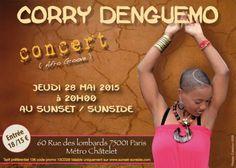Concert CORRY DENGUEMO le 28 mai 2015 au Sunset (Paris)