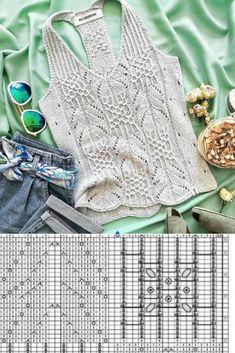 Lace Knitting Patterns, Knitting Charts, Knitting Stitches, Knitting Designs, Hand Knitting, Sewing Patterns, Crochet Flower Tutorial, Form Crochet, Crochet Woman