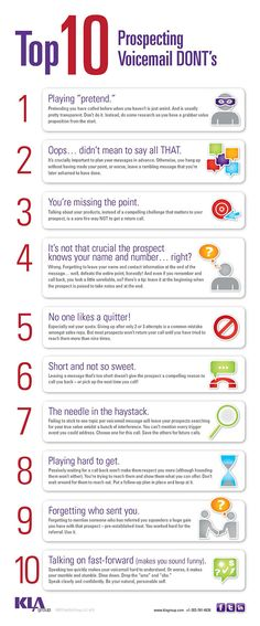 Top 10 prospecting voicemail don'ts
