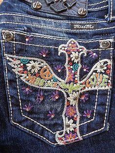 """Miss Me womens jeans JP5727B6 """"Peace & Love"""" DK 185 Boot cut – Blue Cotton Boutique"""