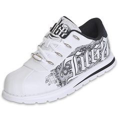 Lugz Men's Dyse One Step | FinishLine.com | White/Silver/Black