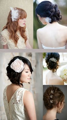 {Wedding Inspirations} Bridal hair