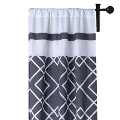 I pinned this Josephine Curtain Panel in Gray from the Graphic & Metallic event at Joss and Main!