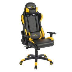 Techni Sport Ergonomic High Back Gaming Desk Chair, White