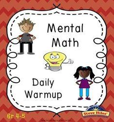 Mental Math Daily Warm-up by Steve Hiles | Teachers Pay Teachers