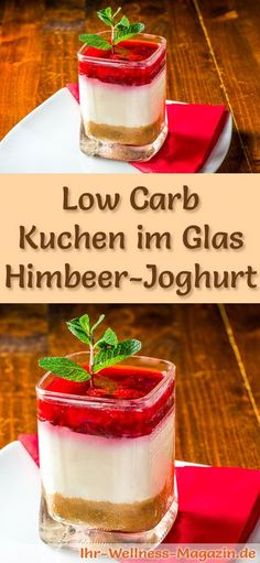 Rezept: Low Carb Himbeer-Joghurt-Kuchen im Glas – ein kalorienreduziertes Low Ca… Recipe: Low Carb Raspberry Yogurt Cake in Glass – A Low Calorie Low Carb Cake Dessert In Glass – Prepared Without Corn Flour And No Added Sugar … Low Carb Cake, Low Carb Desserts, Desserts Jar, Gaps Diet Recipes, Law Carb, Almond Butter Cookies, Yogurt Cake, Pumpkin Cookies, Grain Free