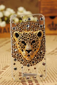iPhone 5 4S 4G 3GS 3D Leopard Face Protective Cover - Apple iPhone Cases - Phone Cases