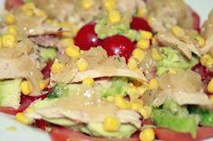 Ensalada Cesar con pollo asado | Blog de recetas paso a paso Cobb Salad, Tapas, Rice, Meat, Chicken, Ethnic Recipes, Blog, Tomato Salad, Rotisserie Chicken