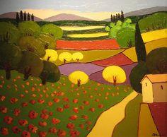 """Farmland"" - oil on canvas, in Post-Impressionist Works"