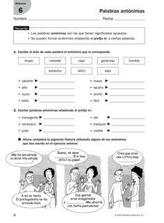 from Refuerzo - Lenguaje Elementary Spanish, Spanish Classroom, Teaching Spanish, Teaching Resources, George Orwell, Neil Gaiman, Friedrich Nietzsche, Spanish Worksheets, Grammar Book