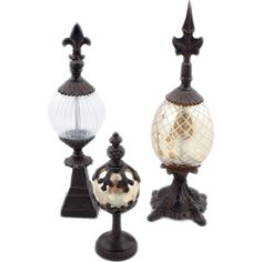 NWOT Set of 3 Globe Decorative Accents  www.TheConsignmentBag.com Shipping great items Worldwide!