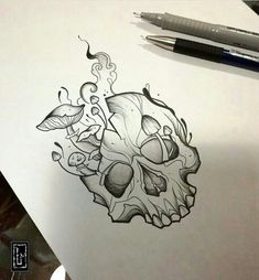 What to Expect When You Get Your Tattoo - Hot Tattoo Designs Dark Art Drawings, Pencil Art Drawings, Art Drawings Sketches, Tattoo Sketches, Cool Drawings, Chest Tattoo Drawings, Gothic Drawings, Skull Drawings, Skull Tattoos